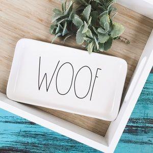 Rae Dunn   LL Woof Dog Small Food Treat Tray